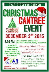 Stockton CanTree Breakfast & Can Stacking Contest @ Casa Flores Brookside | Stockton | California | United States