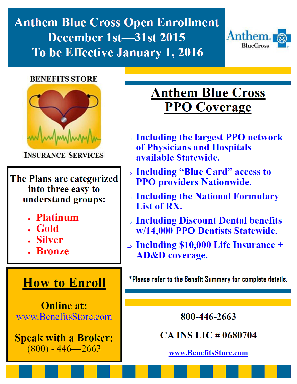 anthem blue cross open enrollment