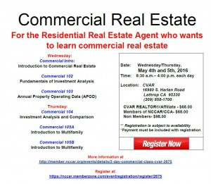 Commercial Real Estate 2 Day @ Central Valley Association of REALTORS   Lathrop   California   United States