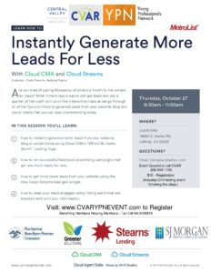 Instantly Generate More Leads For Less @ Central Valley Association of REALTORS | Lathrop | California | United States