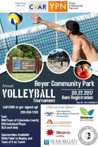 YPN Volleyball Tournament @ Beyer Community Park
