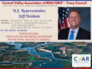 "Tracy Marketing Meeting Guest Speaker - U.S. Representative Jeff Denham @ St. Paul's Lutheran Church ""Life Center Room"" | Tracy | California | United States"