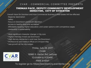 Vision for Stockton Thomas Pace, City of Stockton @ CVAR | Lathrop | California | United States