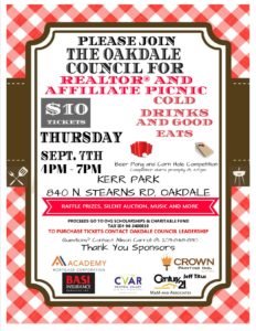 Oakdale Council REALTOR & Affiliate Picnic @ Kerr Park | Oakdale | California | United States