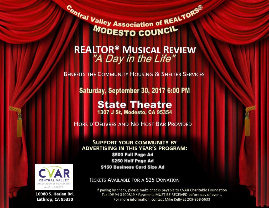 Modesto REALTOR Musical Review @ The State Theatre | Modesto | California | United States