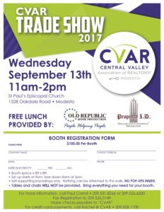CVAR Trade Show @ St. Paul's Episcopal Church | Modesto | California | United States