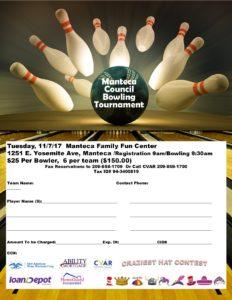 Manteca Council Bowl-A-Thon @ Manteca Family Fun Center | Manteca | California | United States