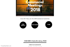 Commercial Committee Meeting @ CVAR | Lathrop | California | United States