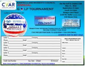 Modesto/Manteca Council Golf Tournament @ Del Rio Golf Country Club  | Modesto | California | United States