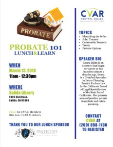 Probate 101 @ Salida Library | Salida | California | United States