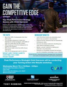 Peak Performance Strategist Tony Robbins @ Chez Shari | Manteca | California | United States