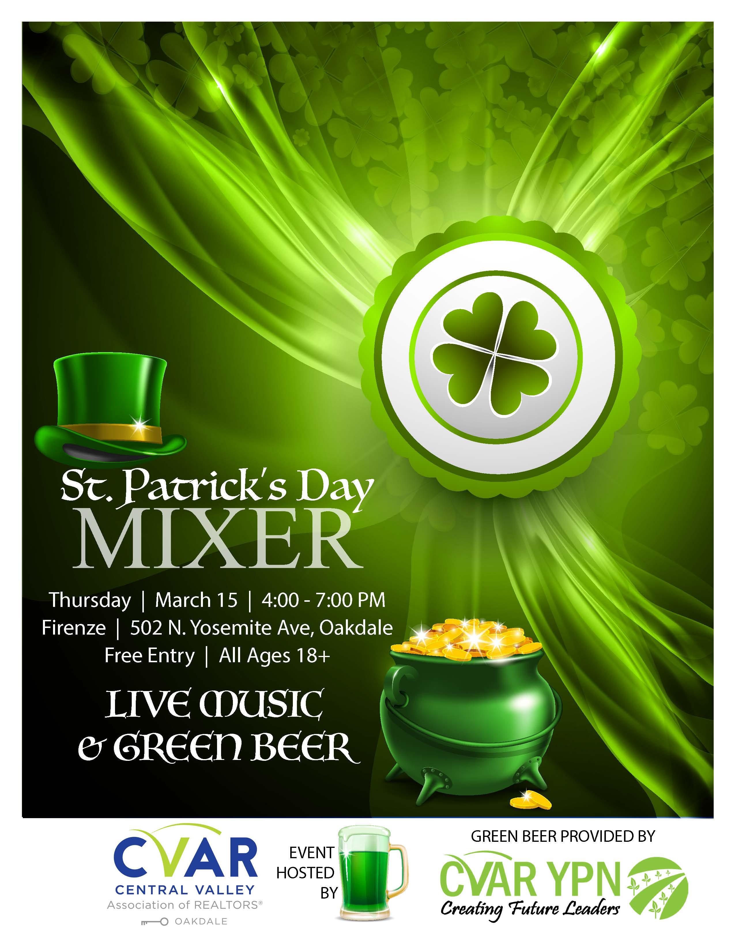 Oakdale St. Patrick's Day Mixer @ Firenze | Oakdale | California | United States