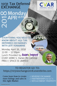 1031 Tax Deferred Exchange @ CVAR | Lathrop | California | United States
