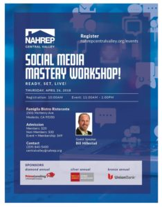 NAHREP Central Valley - Social Media Mastery Workshop @ Famiglia Bistro Ristorante | Modesto | California | United States