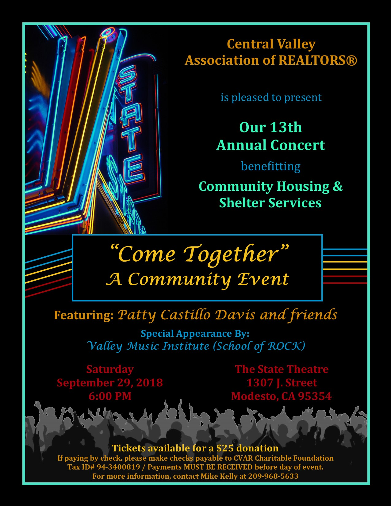 Our 13th Annual Concert - Come Together @ The State Theatre   Modesto   California   United States