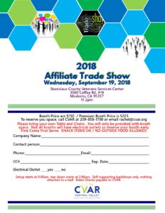 CVAR Affiliate Trade Show @ Stanislaus County Veterans Service Center   Modesto   California   United States