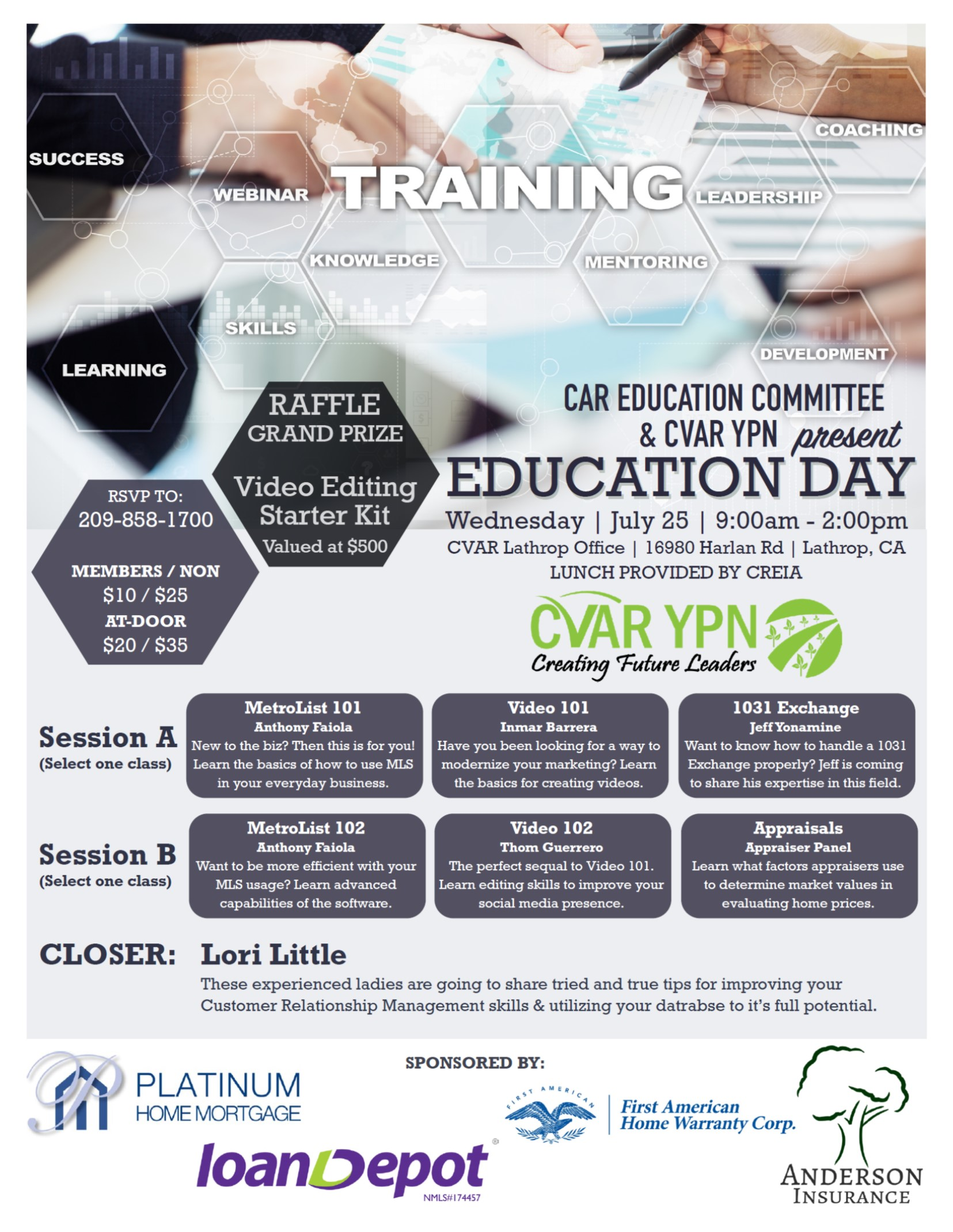 YPN Education Day @ CVAR | Lathrop | California | United States