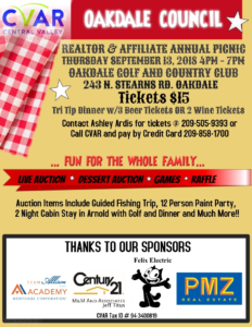 Oakdale REALTOR and Affiliate Picnic @ Oakdale Golf and Country Club   Oakdale   California   United States