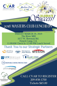 Masters Club Luncheon @ The River Mill