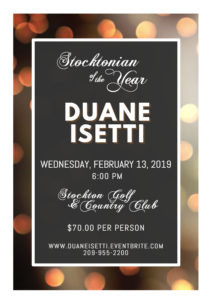 Stocktonian of the Year @ Stockton Golf & Country Club