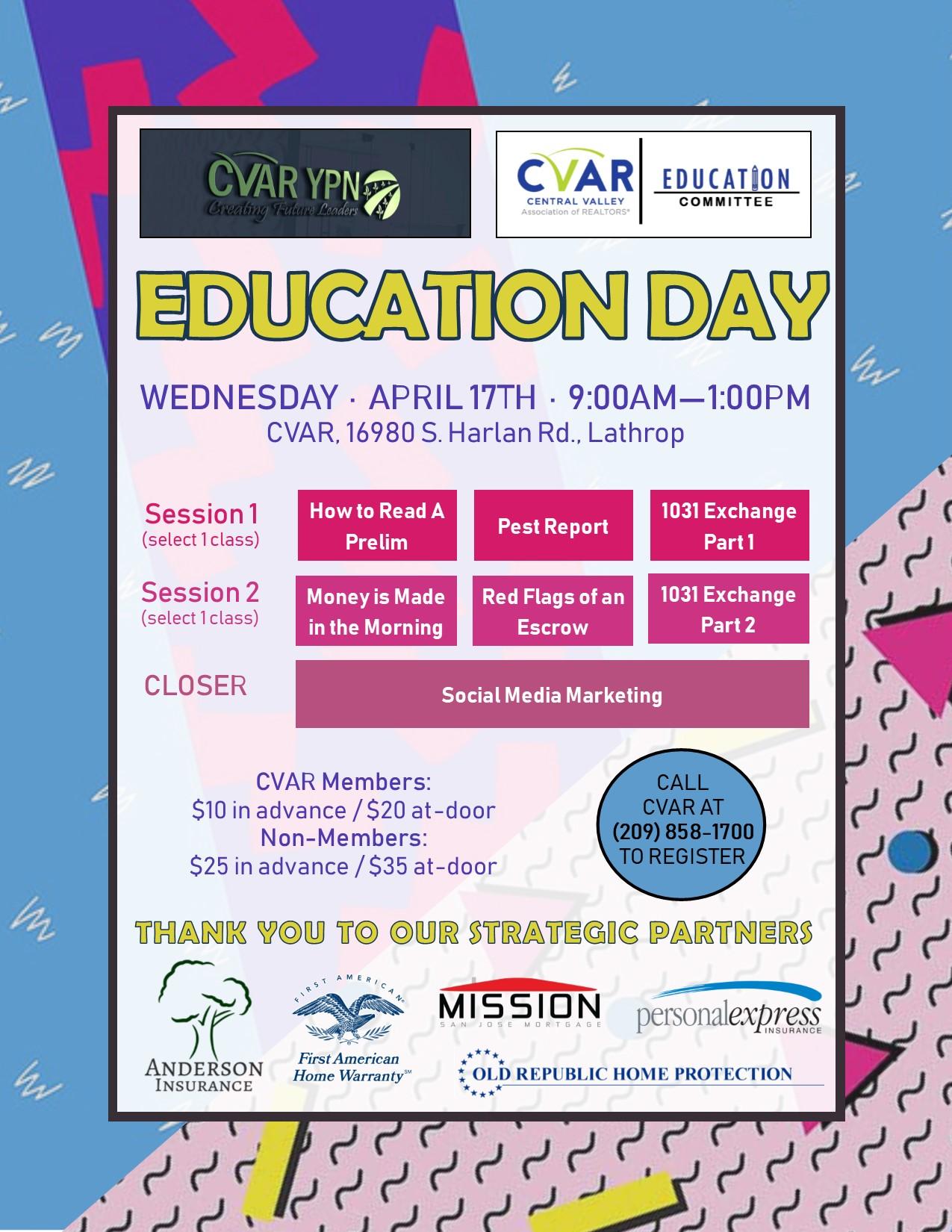 YPN Education Day @ CVAR