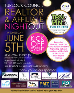 Turlock Council REALTOR & Affiliate Night Out @ 10 Pins