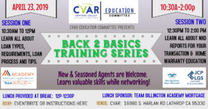 Back to Basics Training Series 1 @ Central Valley Association of REALTORS