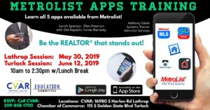 Metrolist Apps Training @ Central Valley AOR
