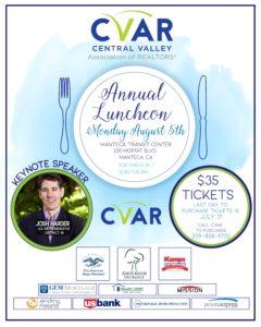 CVAR Annual Luncheon @ Manteca Transit Center