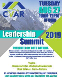 2019 CVAR Leadership Summit @ Central Valley Association of REALTORS
