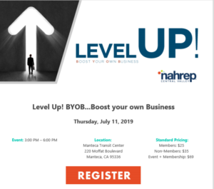 NAHREP Level UP! Boost Your Own Business @ Manteca Transit Center