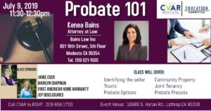 Probate 101 @ Central Valley AOR