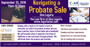 Navigating a Probate Sale @ Central Valley Association of REALTORS