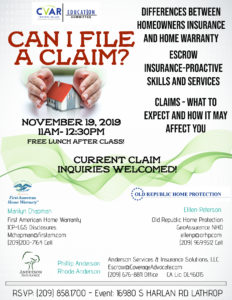 Can I File a Claim? @ Central Valley AOR