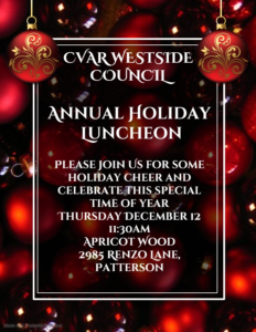 Westside Council Holiday Luncheon @ Apricot Wood