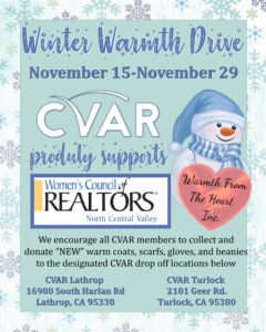 Winter Warmth Drive @ CVAR