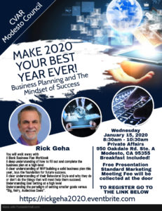Make 2020 Your Best Year Ever - Rick Geha @ Private Affairs