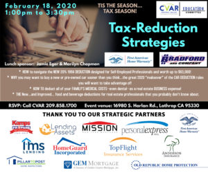 Tax-Reduction Strategies @ CVAR
