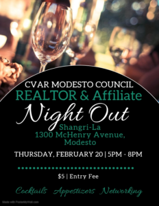 Modesto Council REALTOR & Affiliate Night Out @ Shangri La