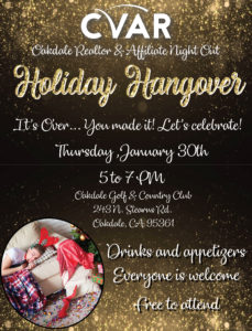 Oakdale Council REALTOR & Affiliate Night Out Holiday Hangover @ Oakdale Golf and Country Club