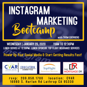 Instagram Marketing Bootcamp @ Central Valley AOR