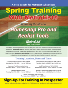 Metrolist Spring Training Homesnap Pro & Realist @ CVAR