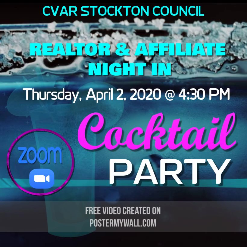 Stockton Council REALTOR & Affiliate Night In @ ZOOM