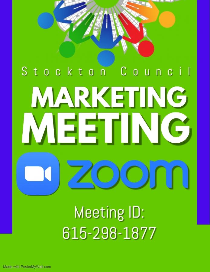 Stockton Marketing Meeting ZOOM @ ZOOM