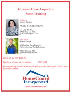Advanced Home Inspections ZOOM Training @ ZOOM Webinar