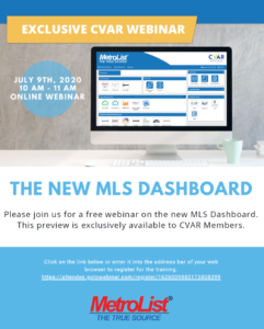 The New MLS Dashboard @ Webinar