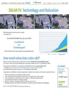 SOLAR PV: Technology & Valuation @ WEBINAR