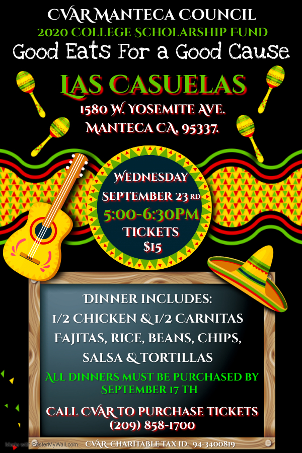Manteca Council - Good Eats for a Good Cause - Las Casuelas @ Las Casuelas