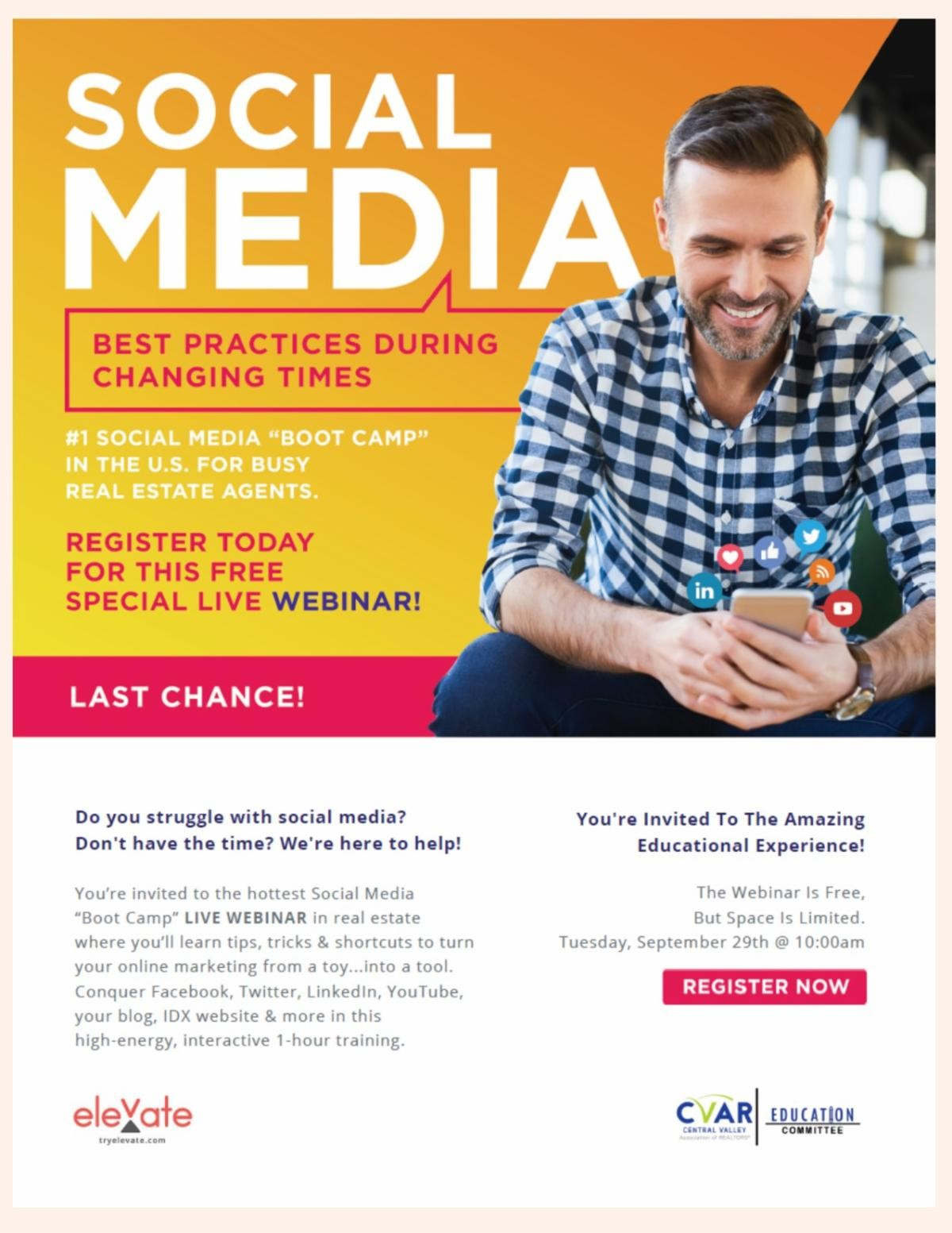 Social Media Best Practices During Changing Times @ WEBINAR