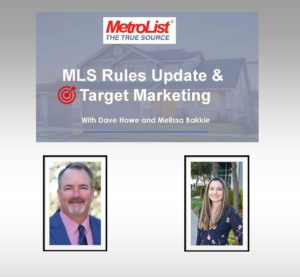 MLS Rules Update & Target Marketing @ WEBINAR